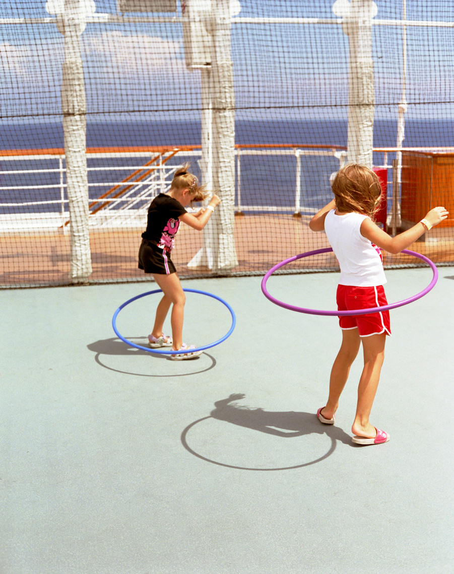 Disney cruise hula hoop girls summer fun