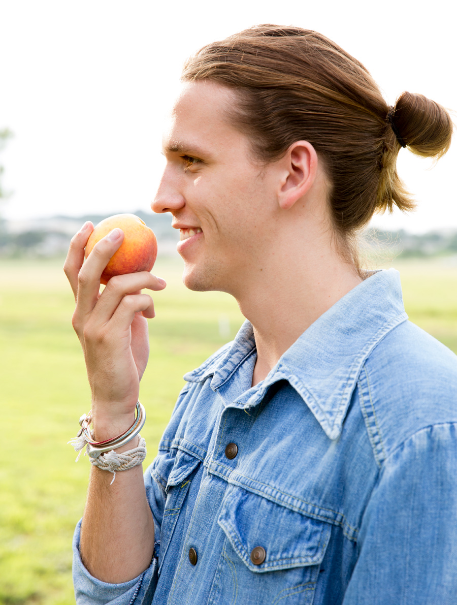 Das Peach Haus in the Texas Hill Country and man bun Better Homes and Gardens