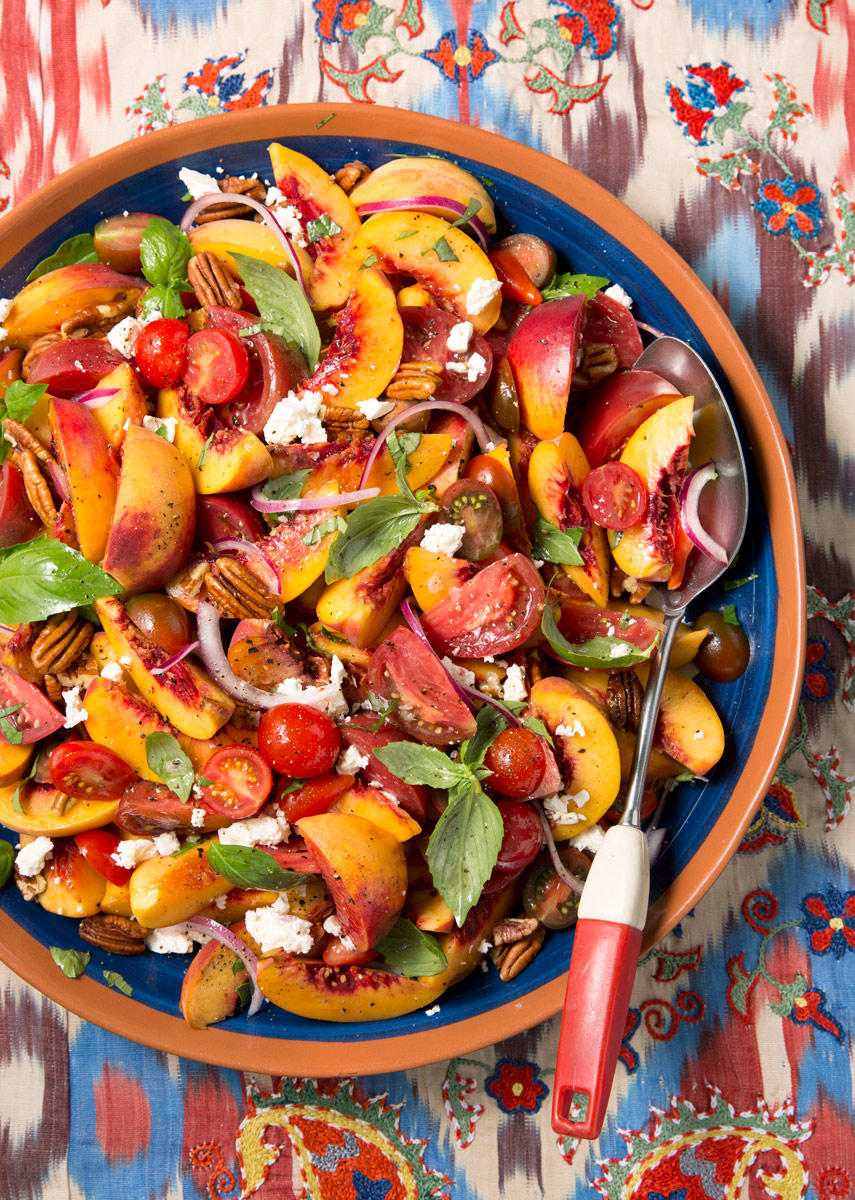 Das Peach Haus and Better Homes and Gardens tomato and peach salad