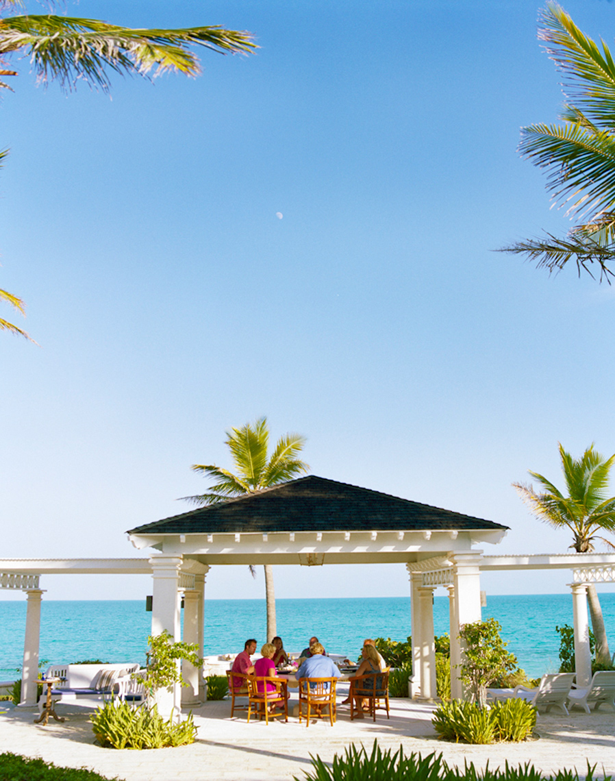 Outdoor entertaining at the beach Turks and Caicos dining al freasco