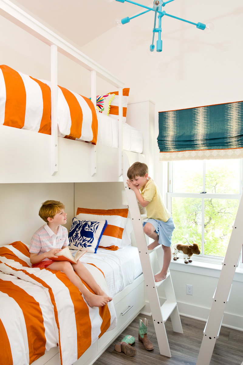 Country Living Lisa Hilderbrand kids on a bunk bed