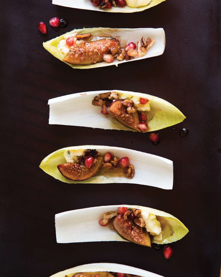 Camille Styles Entertaining book fall hors doeuvres of fig stuffed endive