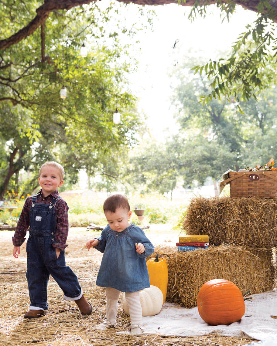Camille Styles Entertaining fall kids party picnic pumpkins