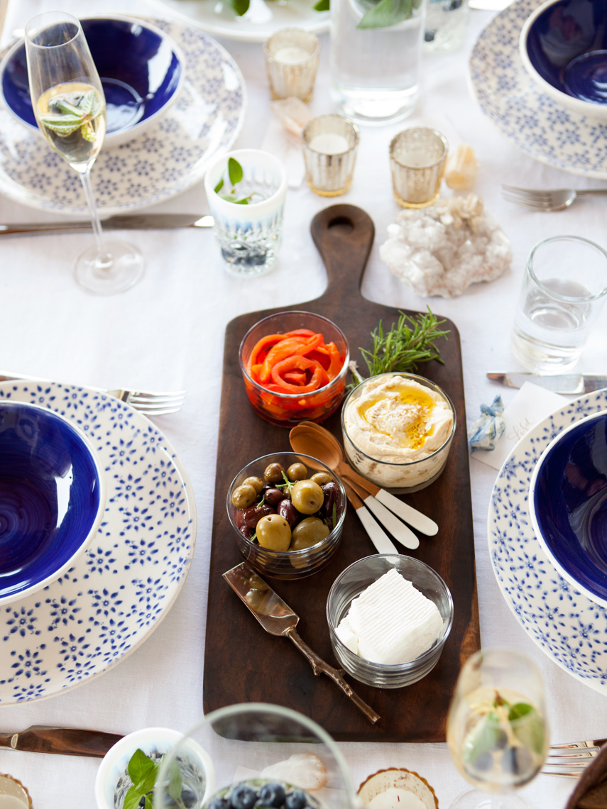Camille Styles blog Home Mint shoot mediterranean entertaining with style olives plates