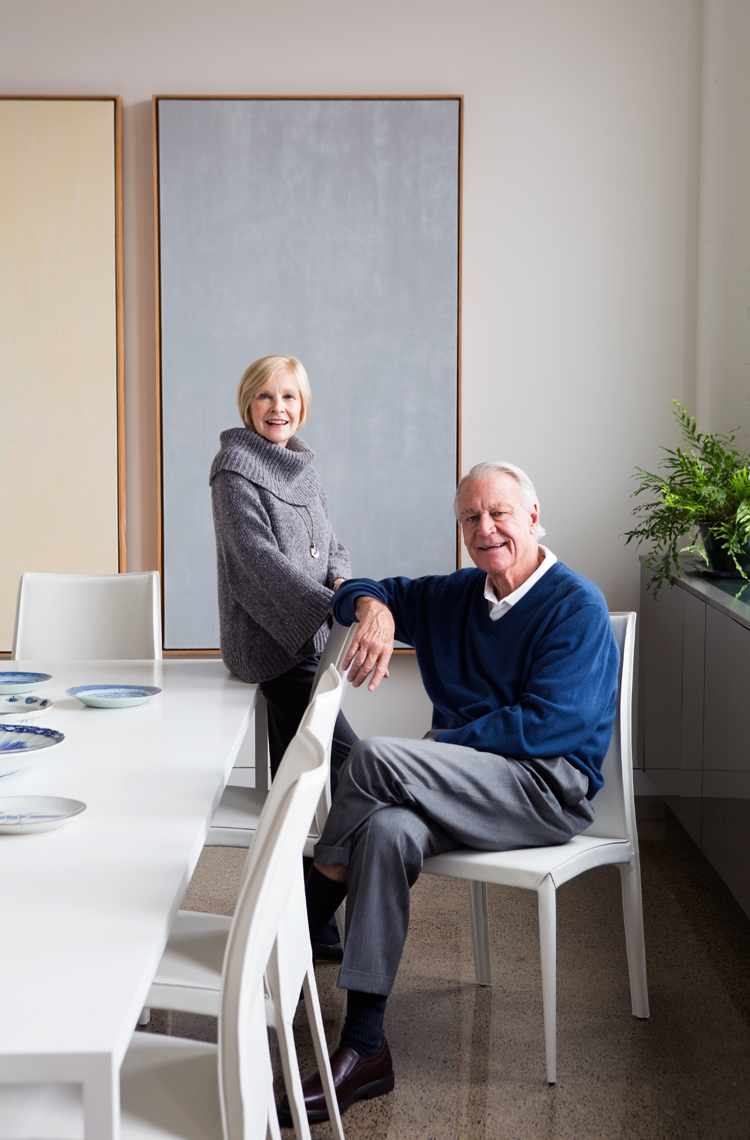 Older couple with loft and art portrait