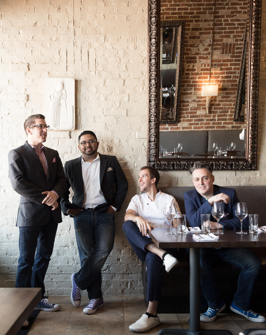 Owners and chef of Helen restaurant Houston for Houstonia magazine