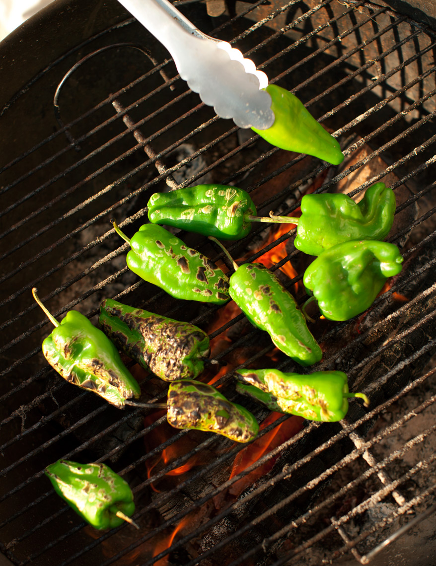 Coastal Living magazine grilled peppers on the beach Nantucket