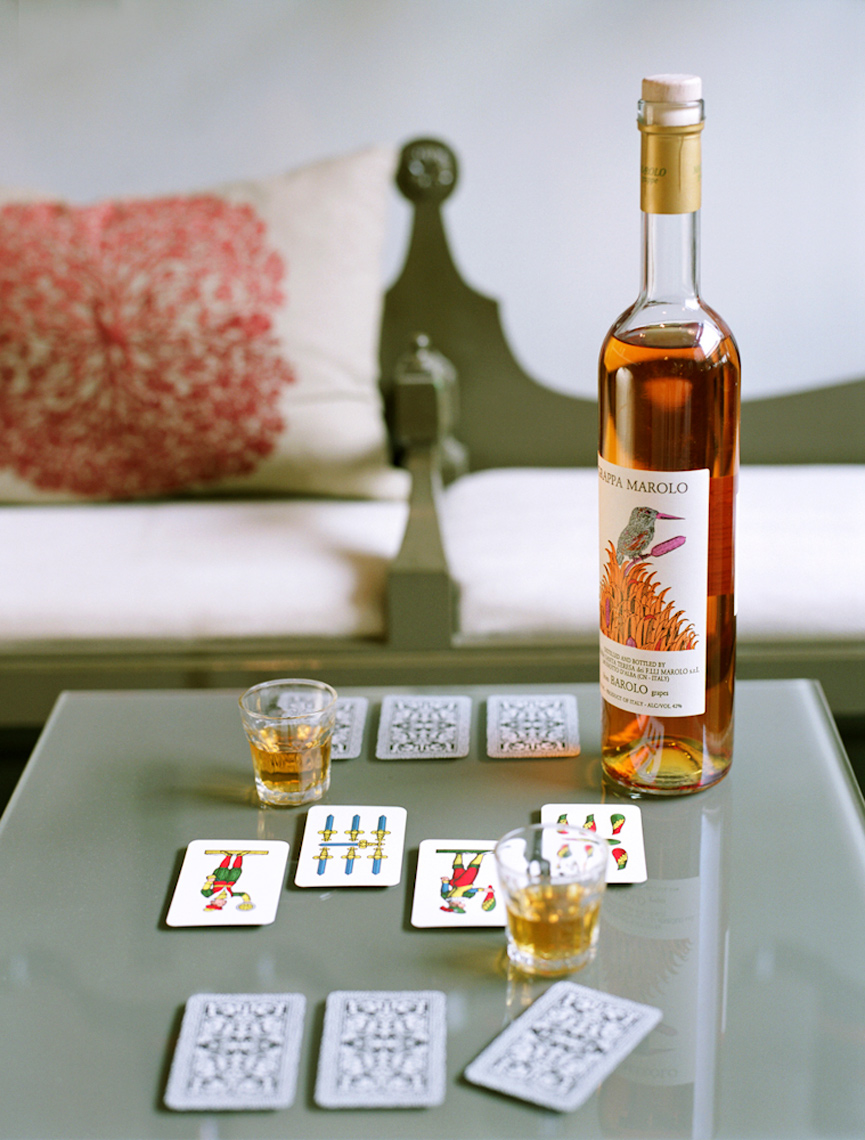 Food & Wine Borola drink with cards still life with natural light photography
